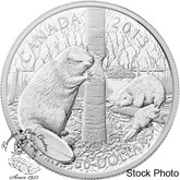 Canada: 2013 $50 The Beaver 5oz Pure Silver Coin