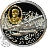 Canada: 1991 $20 de Havilland Beaver Aviation Coin 1-4