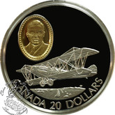Canada: 1992 $20 Curtiss JN-4 (Canuck) Aviation Coin 1-5