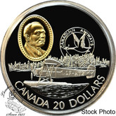 Canada: 1993 $20 Fairchild 71c Aviation Coin 1-7