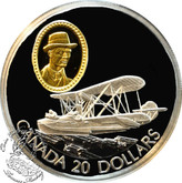 Canada: 1994 $20 Canadian Vickers Vedette Aviation Coin 1-10