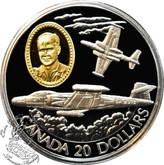 Canada: 1996 $20 Avro Canada CF-100 Canuck Aviation Coin 2-3