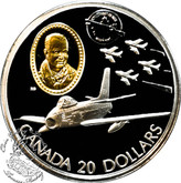 Canada: 1997 $20 Canadair F-86 Sabre Aviation Coin 2-5
