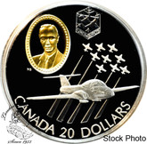 Canada: 1997 $20 Canadair CT-114 Tutor Jet Snowbirds Aviation Coin 2-6