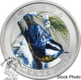Canada: 2007 25 Cents Red-Breasted Nuthatch Coloured Coin