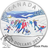 Canada: 2013 $10 Winter Scene Pure Silver Coin
