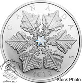 Canada: 2012 $20 Crystal Snowflake Silver Coin