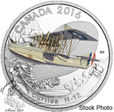 Canada: 2016 $20 Aircraft of the First World War Series: Curtiss H-12 Silver Coin