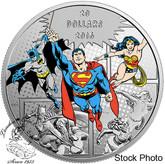 Canada: 2016 $20 The Trinity Silver Coin - DC Comics™ Originals