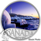 Canada: 2017 $10 Celebrating Canada Lighthouse at Peggy's Cove Silver Coin