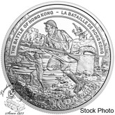 Canada: 2016 $20 Second World War: Battlefront Series - The Battle of Hong Kong Silver Coin