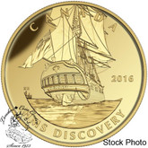 Canada: 2016 $200 Tall Ships Legacy: HMS Discovery Gold Coin