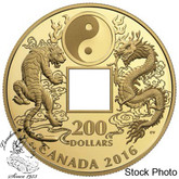 Canada: 2016 $200 Tiger and Dragon Yin and Yang Gold Coin