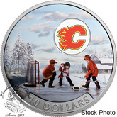 Canada: 2017 $10 Passion to Play: Calgary Flames Silver Coin