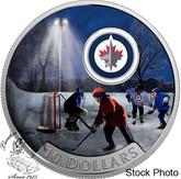 Canada: 2017 $10 Passion to Play: Winnipeg Jets Silver Coin