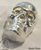 2 oz Pure Silver Skull by Beaver Bullion