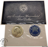 United States: 1973 $1 Eisenhower Uncirculated Silver Dollar Coin