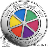 Canada: 2017 $25 35th Anniversary of Trivial Pursuit Game Silver Piedfort Coin