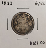 Canada: 1893 25 Cents G/VG