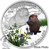 Canada: 2016 $20 Baby Animals Woodchuck Silver Coin