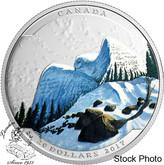 Canada: 2017 $20 Landscape Illusion Snowy Owl Silver Coin