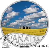 Canada: 2017 $10 Celebrating Canada Canola Field Silver Coin