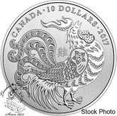Canada: 2017 $10 Year of the Rooster 1/2 oz Silver Coin