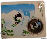 Canada: 2010 50 Cent Vancouver Olympics Alpine Skiing Miga Mascot Coin