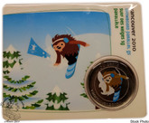 Canada: 2010 50 Cent Vancouver Olympics Snowboard Parallel Giant Slalom Quatchi Mascot Coin