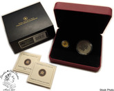 Canada: 2010 $10 $5 1/5 Oz. Gold and 1 Oz. Silver Piedfort Coin Set