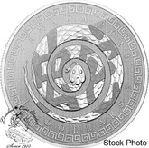 Canada: 2013 $10 Year of the Snake Chinese Characters 1/2 Oz Silver Coin