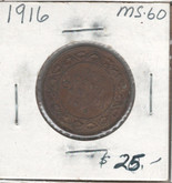 Canada: 1916 1 Cent MS60 Lot#3