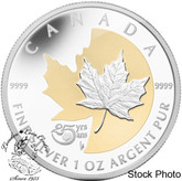 Canada: 2013 $5 25th Anniversary of the $5 Silver Maple Leaf Coin