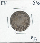 Canada: 1921 25 Cents G/VG Lot#2