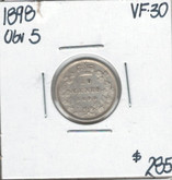 Canada: 1898 10 Cents Obv.5 VF30 Cleaned