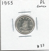 Canada: 1955 10 Cents PL Cameo