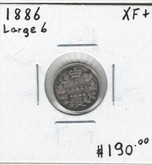 Canada: 1886 5 Cents Large 6 EF45