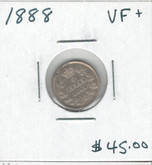 Canada: 1888 5 Cents VF+