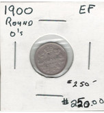 Canada: 1900 5 Cent Round 00 EF40