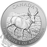 Canada: 2013 $5 Antelope 1 oz  Pure Silver Coin **Light Marks / Finger Print**