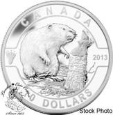 Canada: 2013 $10 The Beaver O Canada Series 1/2 oz Pure Silver Coin