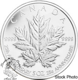 Canada: 2013 $50 25th Anniversary of the Silver Maple Leaf Silver Coin