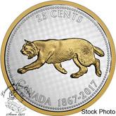 Canada: 2017 1967 25 Cents Bobcat Big Coin Series 5 oz Silver Coin