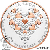 Canada: 2017 $20 Best Wishes On Your Wedding Day Coin Silver Coin