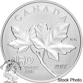 Canada: 2017 $10 Maple Leaves 1/2oz Silver Coin