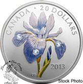 Canada: 2013 $20 Blue Flag Iris Fine Silver Coin