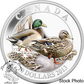 Canada: 2013 $10 Mallard Ducks Pure Silver Coin