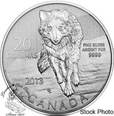 Canada: 2013 $20 Wolf Pure Silver Coin