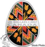 Canada: 2017 $20 Traditional Pysanka Silver Coin