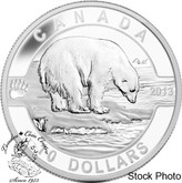 Canada: 2013 $10 The Polar Bear O Canada Series 1/2 oz Pure Silver Coin
